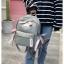 [ พร้อมส่ง ] - กระเป๋าเป้แฟชั่น สีเทา สุดเท่ ดีไซน์สวยเก๋ไม่ซ้ำใคร สวยสุดมั่น เหมาะกับสาว ๆ ที่ชอบกระเป๋าเป้น้ำหนักเบาๆ thumbnail 3