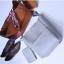[ พร้อมส่ง ] - กระเป๋าสะพายไหล่แฟชั่น สีน้ำตาลเรโท ทรงถัง + กระเป๋าใบเล็ก 1 ใบ ดีไซน์สวยเรียบหรู ดูดี งานหนังคุณภาพดี พร้อมสายสะพายสุดเก๋ thumbnail 13