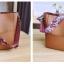 [ พร้อมส่ง ] - กระเป๋าสะพายไหล่แฟชั่น สีน้ำตาลเรโท ทรงถัง + กระเป๋าใบเล็ก 1 ใบ ดีไซน์สวยเรียบหรู ดูดี งานหนังคุณภาพดี พร้อมสายสะพายสุดเก๋ thumbnail 7