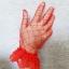ถุงมืือลูกไม้เด็ก - ผู้ใหญ่ ผ้าตาข่าย สีแดง Size SS - XL thumbnail 2