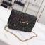 [ พร้อมส่ง ] - กระเป๋าแฟชั่น คลัทช์/สะพาย สีดำรุ้งวิ้งค์ๆ ทรงกล่องสี่เหลี่ยม ขนาดกระทัดรัด ดีไซน์สวยเรียบหรู ดูดี งานสวยค่ะ thumbnail 6