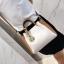 [ พร้อมส่ง ] - กระเป๋าถือ/สะพาย สีทูโทนขาวน้ำตาล ใบเล็กกระทัดรัด ตกแต่งโลโก้ F เก๋ๆ ดีไซน์สวยเรียบหรู ดูดี งานหนังคุณภาพดี สำเนา thumbnail 9