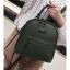 [ พร้อมส่ง Hi-End ] - กระเป๋าเป้แฟชั่น สีเขียวเข้ม ดีไซน์สวยเรียบหรู ดูดีสไตล์แบรนด์ งานหนังคุณภาพดี ช่องเยอะงานสวย thumbnail 9