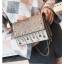 [ พร้อมส่ง Hi-End ] - กระเป๋าคลัทช์ สะพาย สีบรอนด์ทอง ดีไซน์สวยหรู ฟรุ้งฟริ้ง วิ้งค์ๆทั้งใบ ขนาดกระทัดรัด thumbnail 11