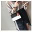 [ พร้อมส่ง ] - กระเป๋าถือ/สะพาย สีทูโทนขาวดำ ทรงกล่องขนาดกระทัดรัด ห้อยป้ายเก๋ๆ ดีไซน์สวยเรียบหรู ดูดี งานหนังคุณภาพดี ช่องใส่ของ 3 ช่อง thumbnail 14