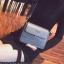 [ พร้อมส่ง ] - กระเป๋าถือ/สะพาย สีเทาเรียบหรู วิ้งค์ๆ ขนาดกระทัดรัด ดีไซน์สวยเรียบหรู ดูดี งานหนังสวยค่ะ thumbnail 4