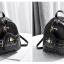 [ พร้อมส่ง ] - กระเป๋าเป้แฟชั่น สีดำคลาสสิค ปักหมุดเก๋ๆ สุดเท่ใบกลางๆ ดีไซน์สวยไม่ซ้ำใคร เหมาะกับสาว ๆ ที่ชอบกระเป๋าเป้ แถมเป๋าลูก thumbnail 9