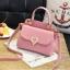 [ พร้อมส่ง ] - กระเป๋าแฟชั่น ถือ/สะพาย สีชมพู ขนาดกระทัดรัด ปักหมุดเท่ๆ ทรงตั้งได้ ดีไซน์สวยเก๋ ดูดี งานหนังสวยมากค่ะ thumbnail 1