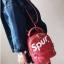 [ พร้อมส่ง ] - กระเป๋าเป้แฟชั่น สไตล์ยุโรป สีแดง Spur ใบเล็กกระทัดรัด ดีไซน์สวยเก๋ไม่ซ้ำใคร เหมาะกับสาว ๆ ที่กำลังมองหากระเป๋าเป้ใบจิ๋ว thumbnail 16