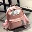 [ พร้อมส่ง ] - กระเป๋าเป้แฟชั่น สีชมพู สุดเท่ ดีไซน์สวยเก๋ไม่ซ้ำใคร สวยสุดมั่น เหมาะกับสาว ๆ ที่ชอบกระเป๋าเป้น้ำหนักเบาๆ thumbnail 12