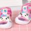 รองเท้ารัดส้น เปิดหน้าระบายอากาศ ลายหมีสีชมพู Size 17-22 thumbnail 4