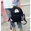 [ พร้อมส่ง ] - กระเป๋าเป้แฟชั่น สีดำ สุดเท่ ดีไซน์สวยเก๋ไม่ซ้ำใคร สวยสุดมั่น เหมาะกับสาว ๆ ที่ชอบกระเป๋าเป้น้ำหนักเบาๆ thumbnail 4