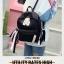 [ พร้อมส่ง ] - กระเป๋าเป้แฟชั่น สีดำ สุดเท่ ดีไซน์สวยเก๋ไม่ซ้ำใคร สวยสุดมั่น เหมาะกับสาว ๆ ที่ชอบกระเป๋าเป้น้ำหนักเบาๆ thumbnail 3