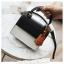 [ พร้อมส่ง ] - กระเป๋าถือ/สะพาย สีทูโทนขาวดำ ทรงกล่องขนาดกระทัดรัด ห้อยป้ายเก๋ๆ ดีไซน์สวยเรียบหรู ดูดี งานหนังคุณภาพดี ช่องใส่ของ 3 ช่อง thumbnail 7
