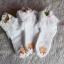 ถุงเท้าเด็กหญิง สีขาวระบายลูกไม้ ประดับดอกหลากสี สำหรับเด็ก 3 - 9 ปี thumbnail 2