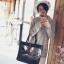 [ พร้อมส่ง - HI-End ] - กระเป๋าสะพายไหล่แฟชั่น สีดำคลาสสิค ใบใหญ่ปักลายน่ารักๆ ทรง Shopping Bag ดีไซน์สวยเรียบหรู ดูดี งานหนังคุณภาพดีมากๆๆ ช่องใส่ของเยอะ thumbnail 17