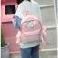 [ พร้อมส่ง ] - กระเป๋าเป้แฟชั่น สีชมพู สุดเท่ ดีไซน์สวยเก๋ไม่ซ้ำใคร สวยสุดมั่น เหมาะกับสาว ๆ ที่ชอบกระเป๋าเป้น้ำหนักเบาๆ thumbnail 8