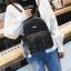 [ พร้อมส่ง Hi-End ] - กระเป๋าเป้แฟชั่น สีดำวิ้งค์ๆ ใบกลางๆ ดีไซน์สวยเก๋ปรับใช้งานได้หลากสไตล์ ดูดีสไตล์แบรนด์ งานหนังคุณภาพดี ไม่ซ้ำใคร thumbnail 7