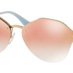 แว่นกันแดด PRADA PR64TS 7OEAD2 Antique Gold Pink Gradient Mirror