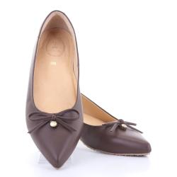 Jackie Pointy Ballet (Walnut Brown) บัลเลต์ หัวแหลม สีน้ำตาล