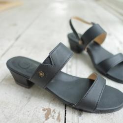 """Demi Sandal Heels (Black) แตะมีส้น สูง 1.5"""" สีดำ สำเนา"""