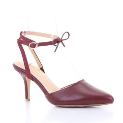 Scarlett Pointy Heel (Burgundy Red) ส้นสูง ทรงหัวแหลม สีแดง