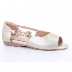 Emily Opened toe Ballet (Gold) บัลเลต์ ทรงเปิดหน้าเท้า สีทอง