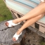 Arya Leather Sandal (White) รองเท้าแตะ แบบสวมไขว้ สีสายรัดส้น สีขาว thumbnail 9