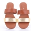 Totty Sandal two tone (Tan) รองเท้าแตะ แบบสวม 2สี สีแทน thumbnail 3