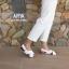 Arya Leather Sandal (White) รองเท้าแตะ แบบสวมไขว้ สีสายรัดส้น สีขาว thumbnail 11
