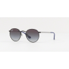 Ray Ban RJ9547S 201/8G Round MATTE BLACK Light Grey Gradient Dark Grey