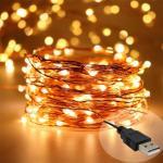 ไฟตกแต่ง Copper Wire 10 เมตร(แบบUSB)