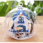 DIY Mini Ball Glass House .. . บ้านริมทะเล สีฟ้าสวยงาม แบบใหม่ มาในขวดแก้วจะแขวนหรือตั้งโต๊ะก็ได้ค่ะ