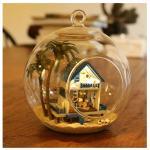 DIY Mini Hanging Ball House.. . บ้านริมทะเลสวยงามในขวดแก้วใส แบบแขวนหรือตั้งโต๊ะได้ค่ะ