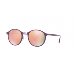 Ray Ban RB4242 60342Y Light Ray SHINY VIOLET Brown Mirror Pink