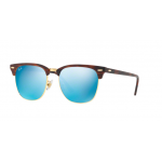 Ray Ban RB3016F 1145/17 Clubmaster TORTOISE/BLUE FLASH LENS