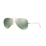 Ray Ban Aviator RB3025 001/M4 Crystal Green Silver Mirror Polarized