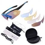 แว่นปั่นจักรยาน Rockbros polarized lenses (มีเลนส์ให้ 5 ชิ้น) สีดำน้ำเงิน