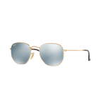 Ray Ban RB3548N 001/30 hexagonal Gold Silver Mirror