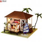 Beach house with light wood ... บ้านชายทะเลพร้อมเรือใบสวยงาม มาพร้อมที่ครอบกันฝุ่น*