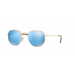 Ray Ban RB3548N 001/9O GOLD Light Blue Flash