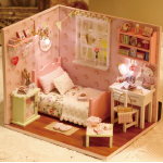 NEW** Sunshine Overflower ห้องนอนสีชมพูอ่อนวินเทจ