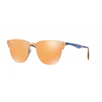 Ray-Ban RB3576N 90377J BRUSCHED BLUE Dark Orange Mirror Gold