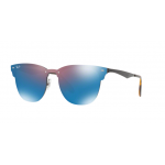 Ray-Ban RB3576N 153/7V DEMI GLOS BLACK Dark Violet Mirror Blue