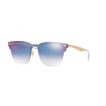 Ray-Ban RB3576N 043/X0 BRUSHED GOLD Clear Gradient Blue Mirror Red