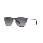 Ray Ban RB4187F 622311 VIOLET SHOT ON BLACK Grey Gradient Dark Grey