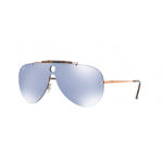 RayBan Shooter RB3581N 90351U COPPER Dark Violet Mirror Silver