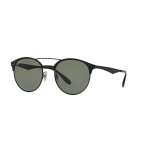Ray Ban RB3545 186/9A SHINY BLACK/TOP MATTE BLACK 51 mm