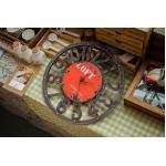 retro wall clock นาฬิกาแขวนผนัง สีแดง