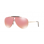 RayBan Shooter RB3581N 001/E4 GOLD Pink Mirror Pink